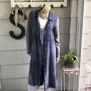 Free People Duster Long and Lean Trench Jacket
